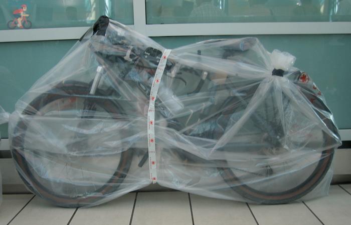Перевозка велосипеда без упаковки